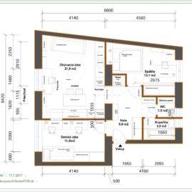 Koncepčný návrh rekonštrukcie bytu